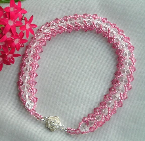 Pink Butterfly Bridesmaid Bracelet